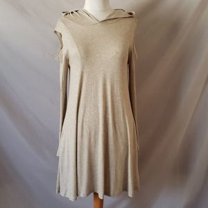 Elan Cold Shoulder Dress with pockets and Hoodie